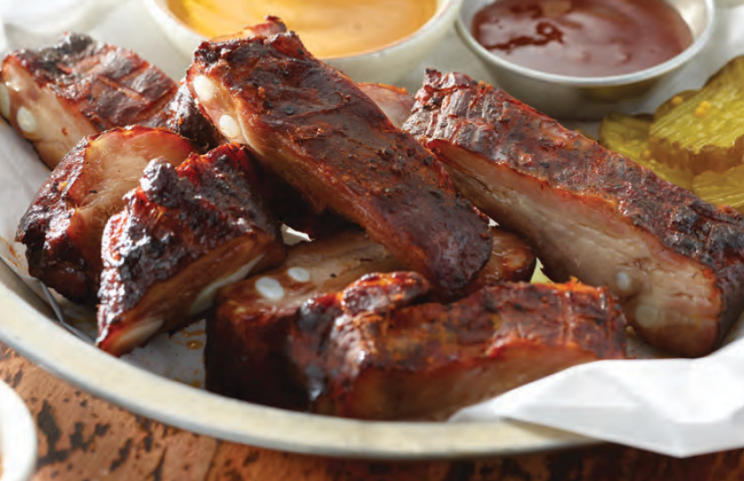 Ribs on plate