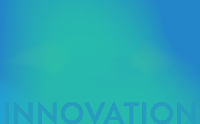 Innovation on blue background